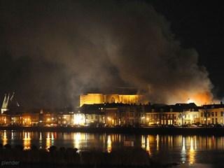 Brand Kampen. Foto: @janplender