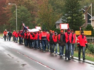 Protestactie bij Calduran Kloosterhaar