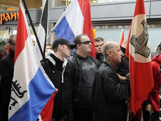 NVU-demonstratie in Enschede