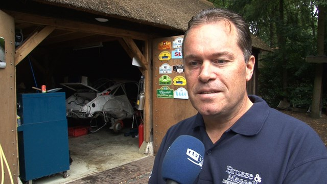 Harry Kleinjan ongedeerd na zware crash Hellendoorn Rally
