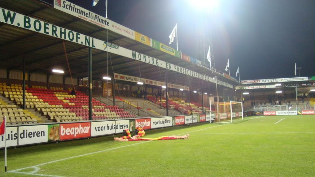 Stadion Go Ahead Eagles Deventer uitgebreid met 200 zitplaatsen