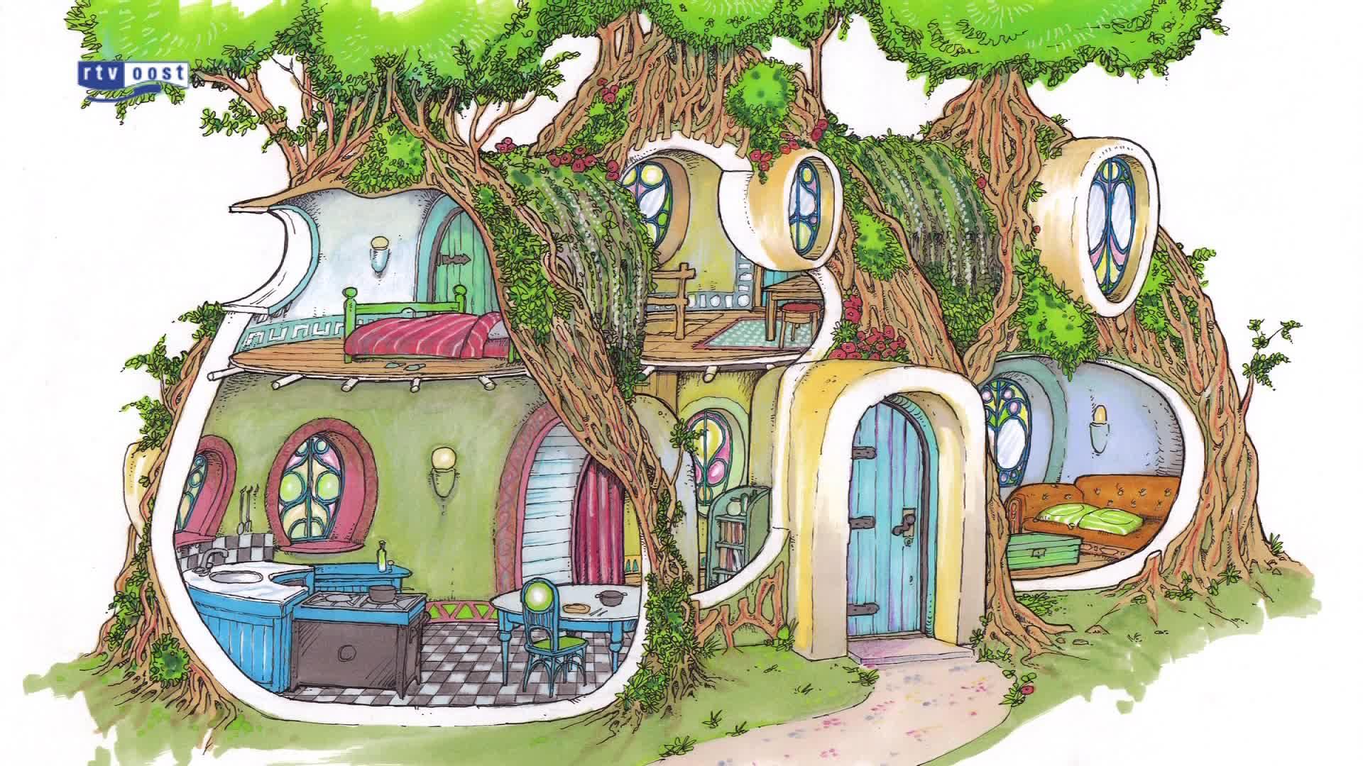 Dalfsen krijgt eerste levende huis van de wereld van buigzame bomen - Kroonluchter huis van de wereld ...