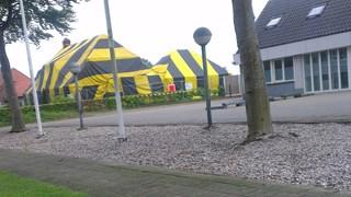 Huis als circustent in Den Ham