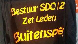 Protestshirts van zaterdagteam SDC