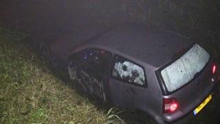 Auto in sloot Zuidveen