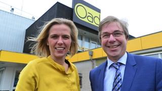 Oad-Busdirecteuren Frans Schuitemaker en Karin van der Zanden