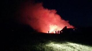 Boerderij brandt uit in Zuidveen