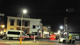 Politiecontrole op het Noorderplein in Deventer
