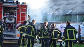 Brand in container met zonnepanelen