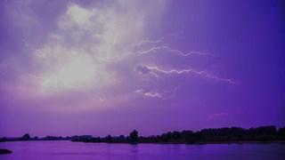 Onweer / bliksem bij Olst