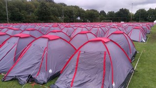 Tentjes op Sportpark Marslanden