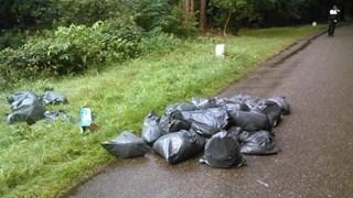 Wietafval gedumpt in Enschede
