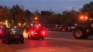 Boeren in Staphorst komen samen
