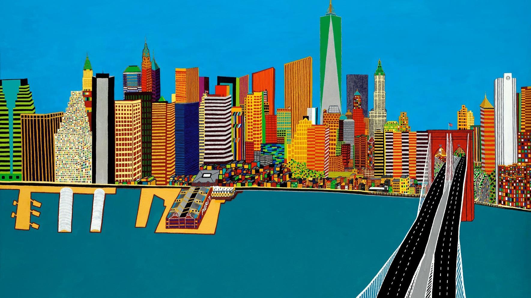 Schilderij van zwolse kunstenaar frank dammers in februari naar new york - Bron schilderijen ...