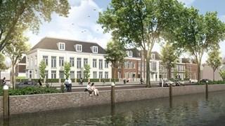 Artist impression van de woningen op het terrein van voormalig ziekenhuis Zwolle
