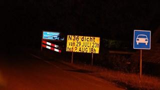 Afsluiting van de N36 bij Westerhaar