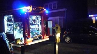 Brand in woning veroorzaakt door televisie die in vlammen opgaat