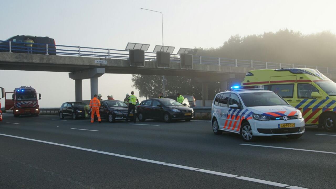 Veel vertraging door ongeluk op A28 tussen De Lichtmis en ...