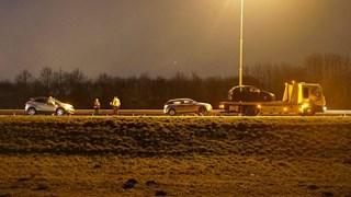 Auto's botsen op A1 bij Deventer
