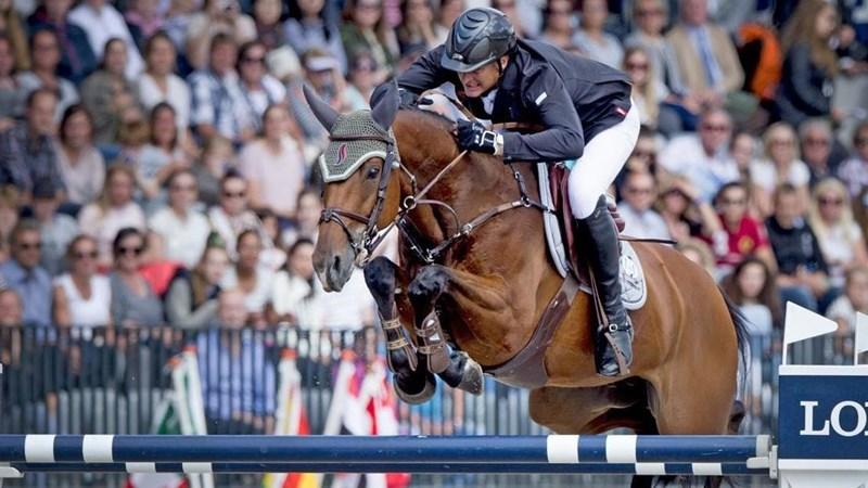 Overwinning Marc Houtzager tijdens Indoor Brabant