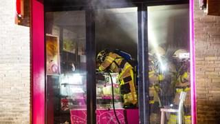 Brandweer in actie bij brand in Kampen
