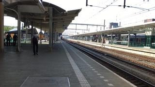 Leeg perron op NS-station Zwolle