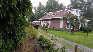 Brandweer controleert woning