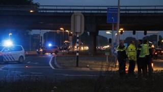 Ongeval ter hoogte van viaduct A1