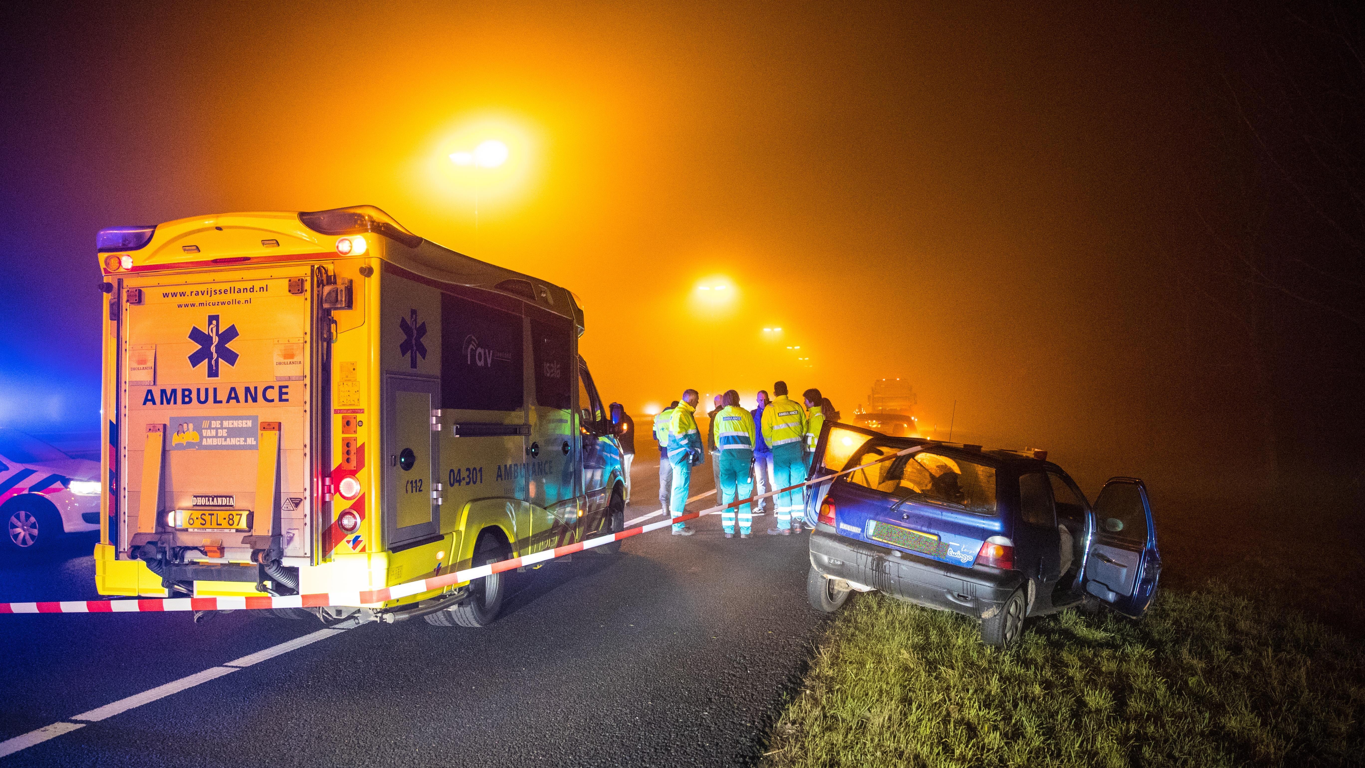 A28 bij Zwolle richting Amersfoort weer open na ongeval.