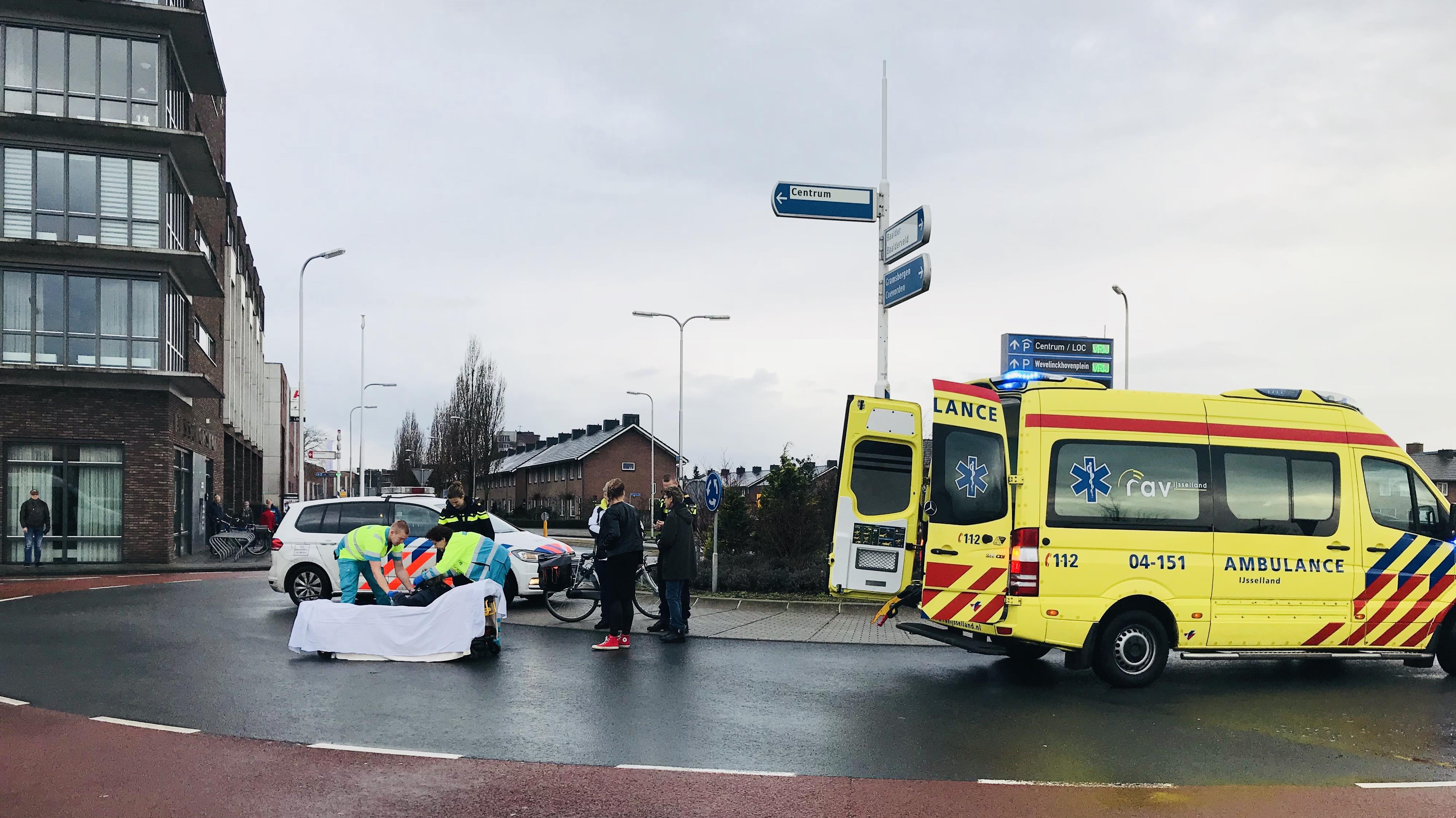 Fietsster gewond na aanrijding in Hardenberg.