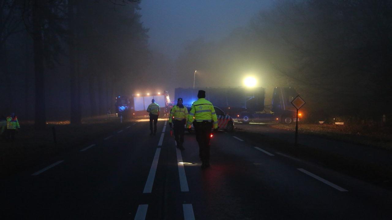 Persoon overleden bij ernstig ongeval N35 bij Haarle.