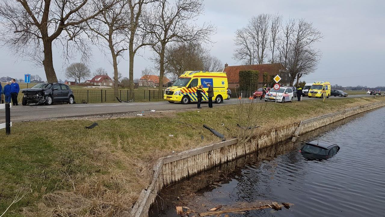 Auto met zes mensen te water bij ongeluk in Hasselt.