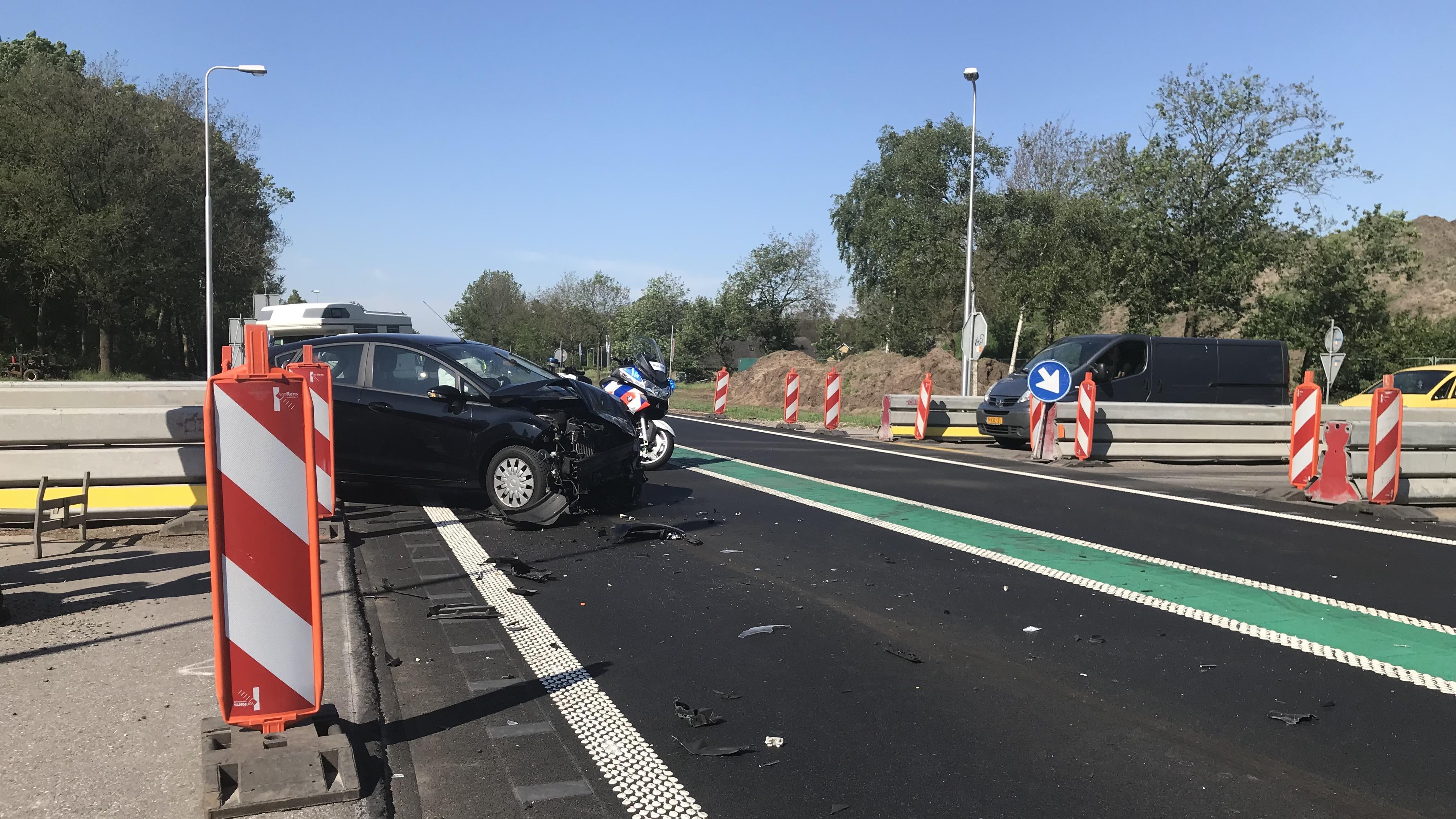Gewonde bij ongeluk op N34 bij Hardenberg.