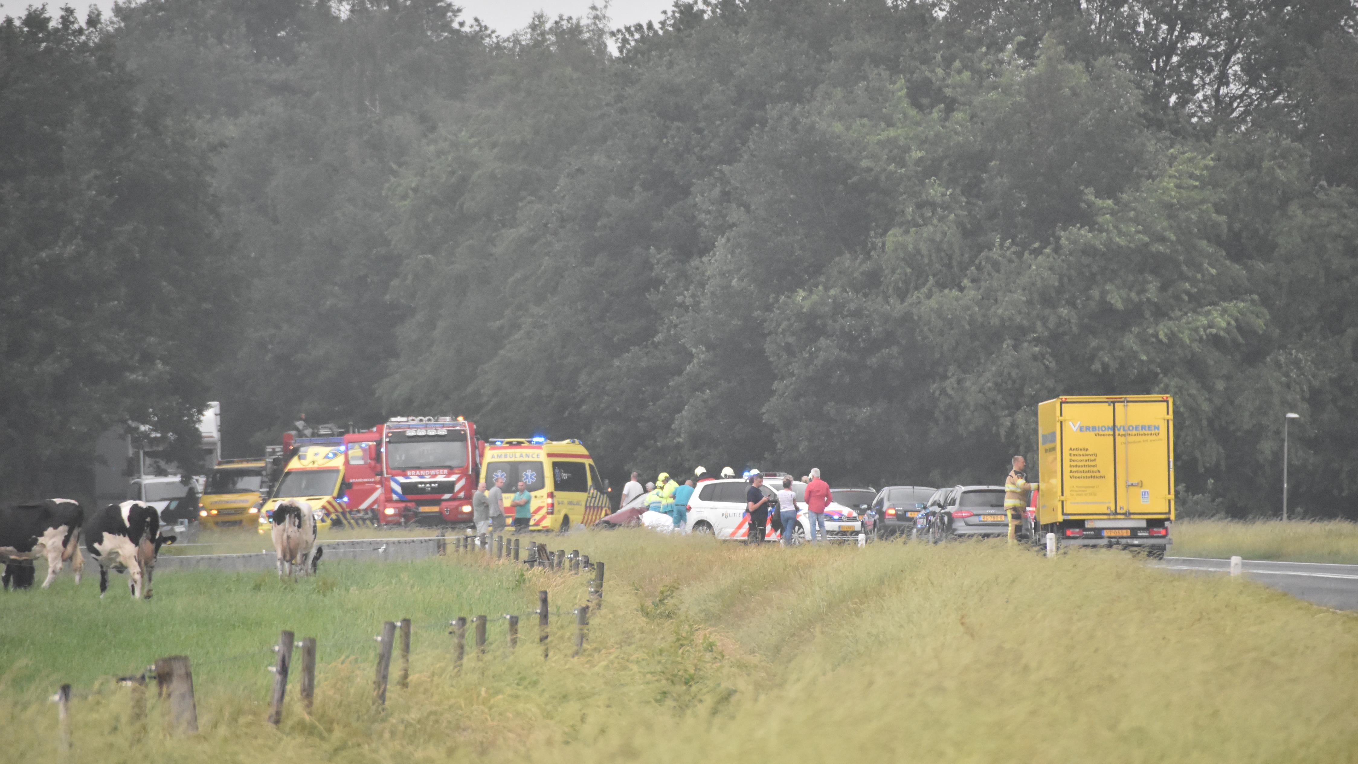 N36 dicht na ongeval bij Diffelen.