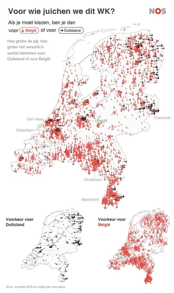 De keus tussen België en Duitsland - fotograaf: RTV Oost