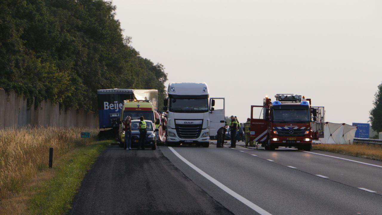 A1 bij Enter en A35 tussen Almelo en Borne weer open na ongelukken.
