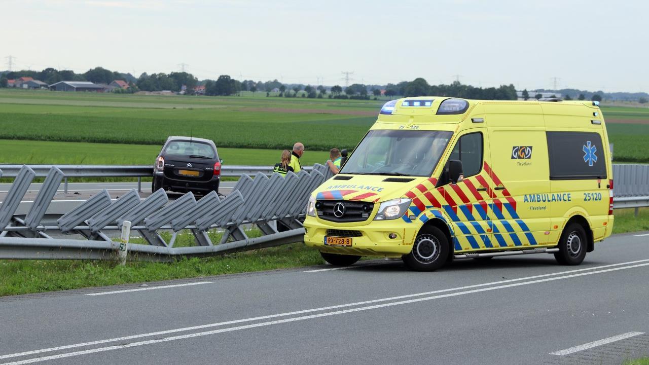 N50 richting Emmeloord weer open na ongeluk tussen Kampen en Ens.