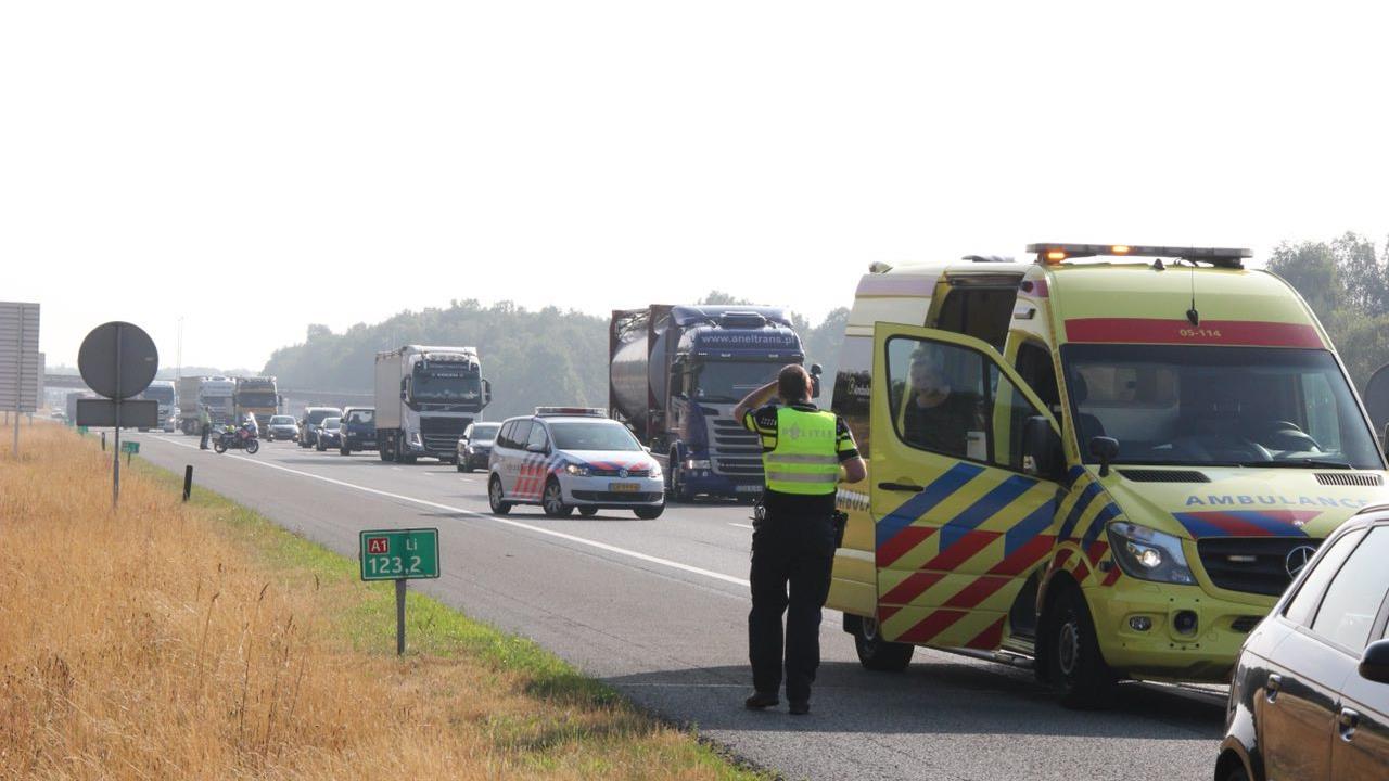 Ongeval op A1 richting Deventer: 7 kilometer file.
