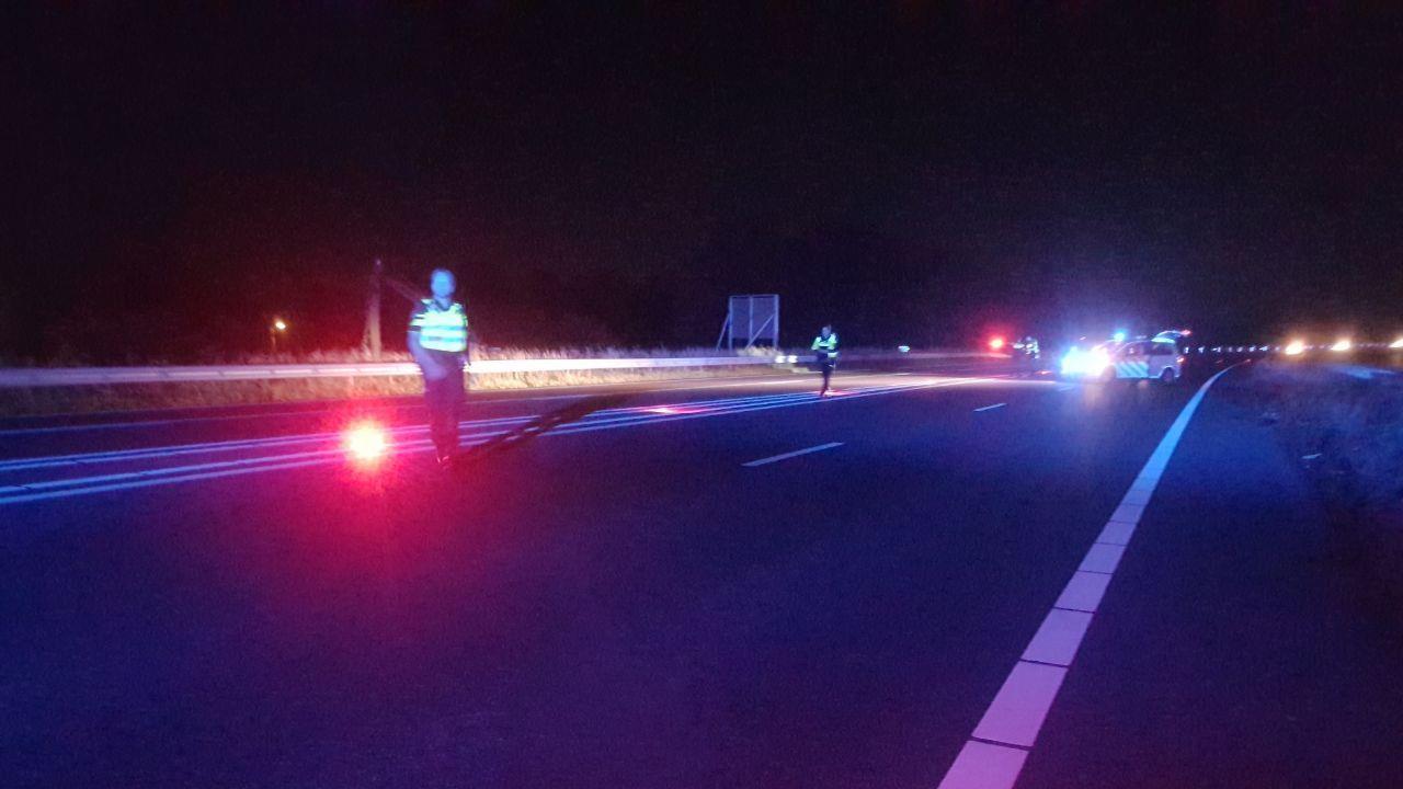 Vrouw overleden na aanrijding op A35 bij Enschede.
