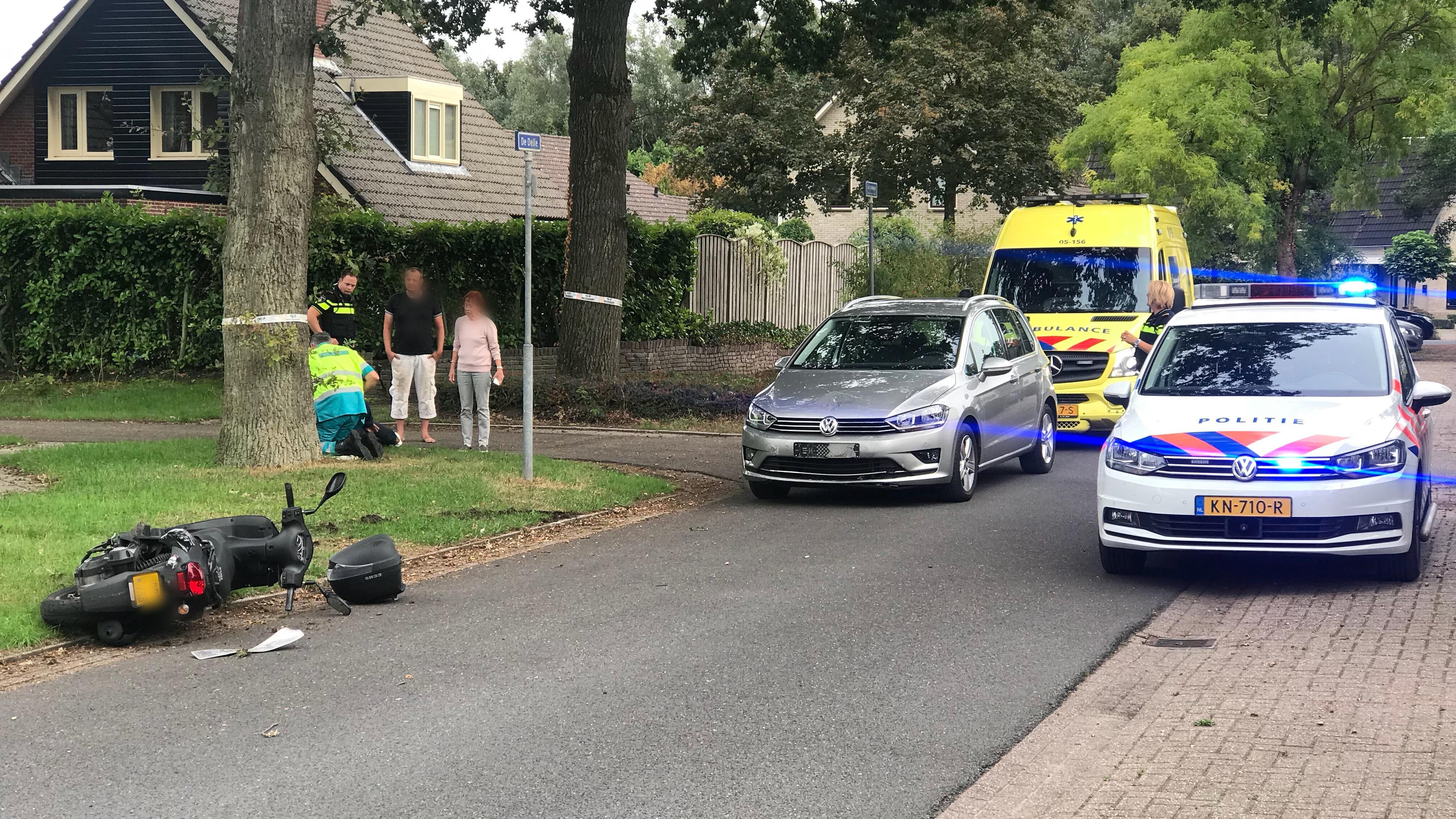 Gewonden na botsing tussen twee auto's in Steenwijk.