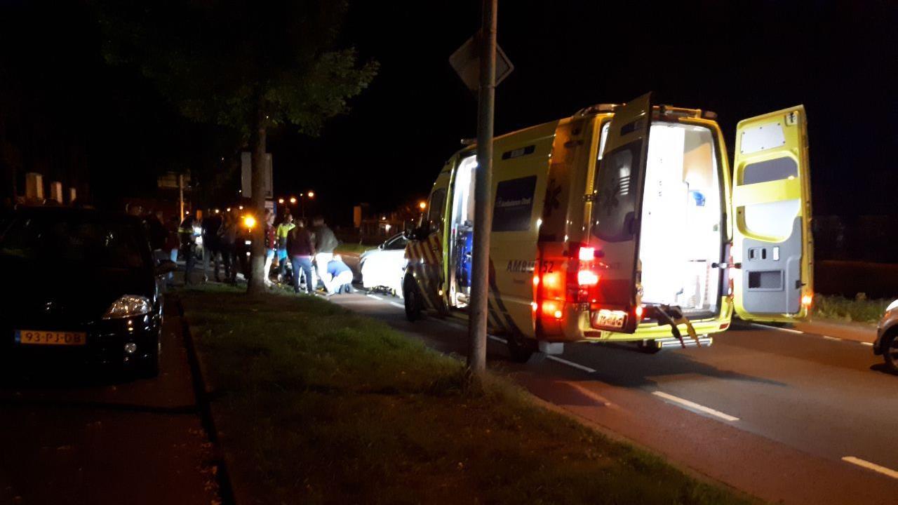 Motorrijder gewond bij aanrijding in Almelo.