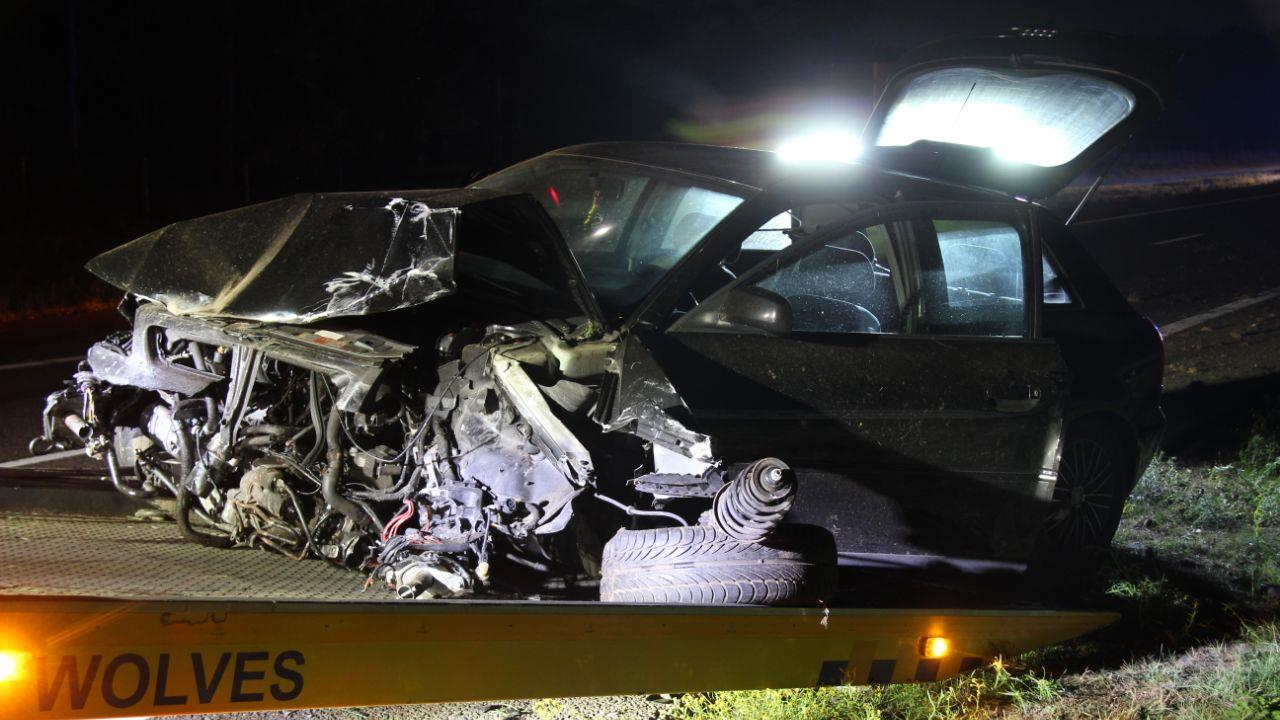 Automobilist heeft geluk van de wereld na eenzijdig ongeluk A1 richting Hengelo.