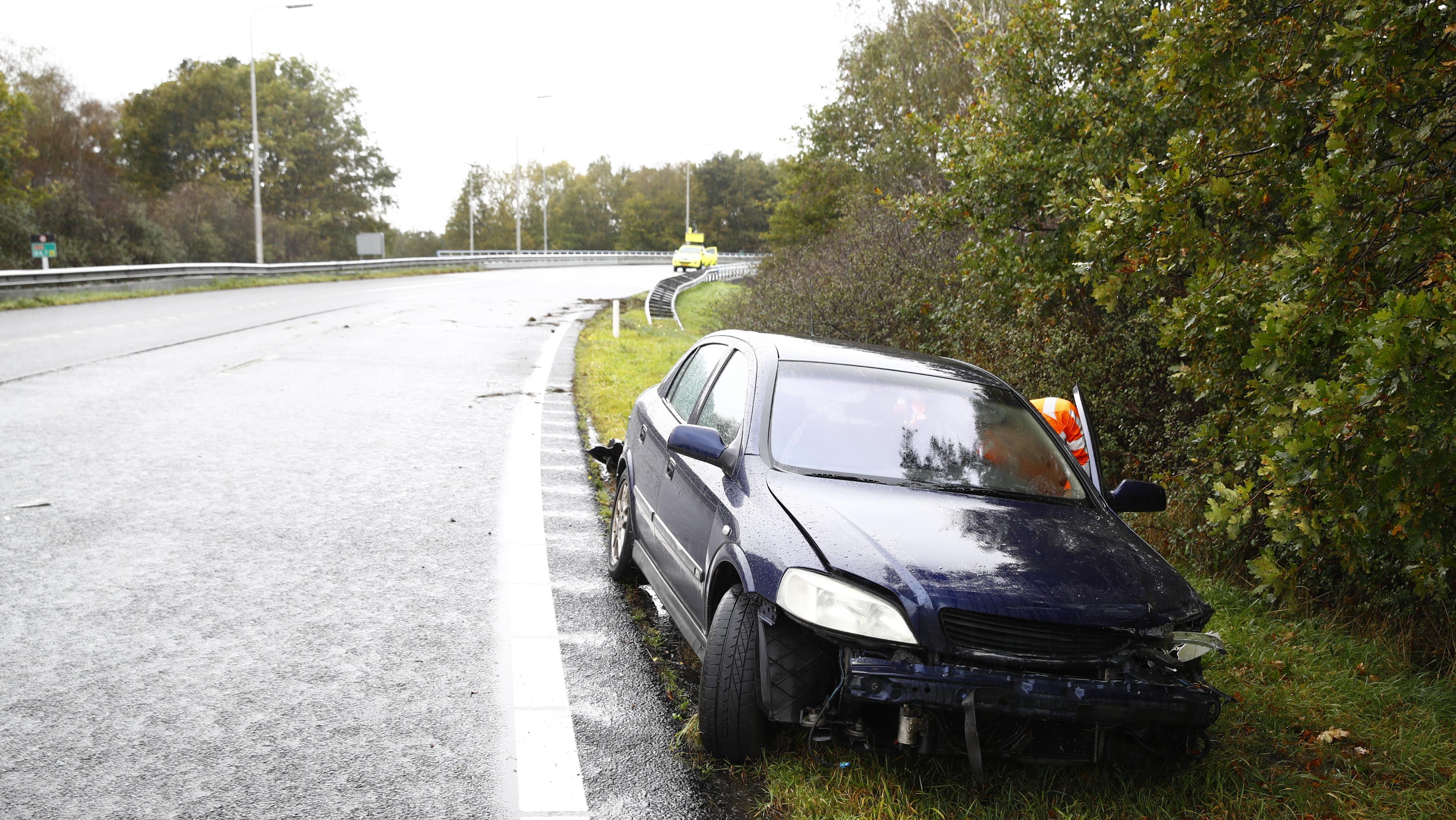 Chaos op A28 bij Zwolle door vier ongevallen.