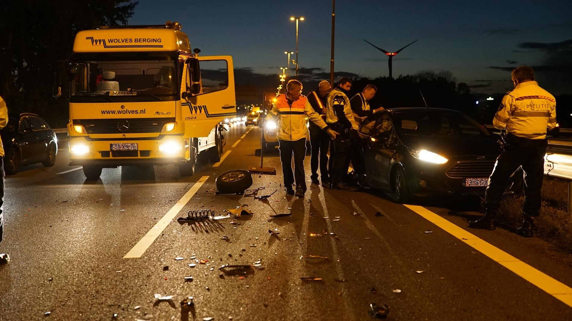 A1 bij Deventer weer vrij na ongeval.