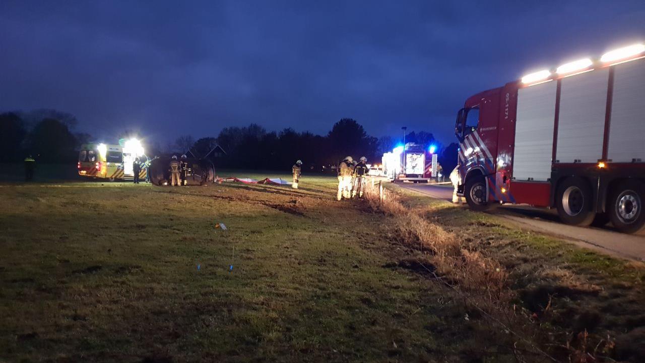 Vrouw overleden bij eenzijdig ongeluk in Hengelo.
