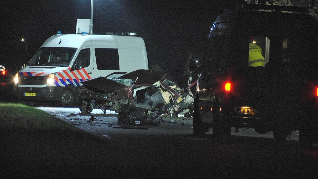 Automobilist overleden bij zwaar ongeval in Dalfsen.