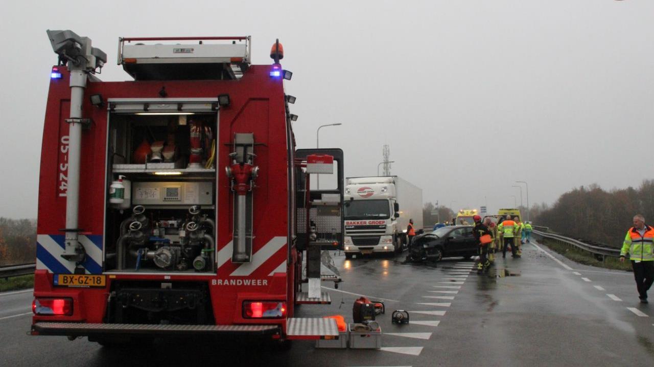Afrit A1 Holten richting Deventer weer open na ongeluk.