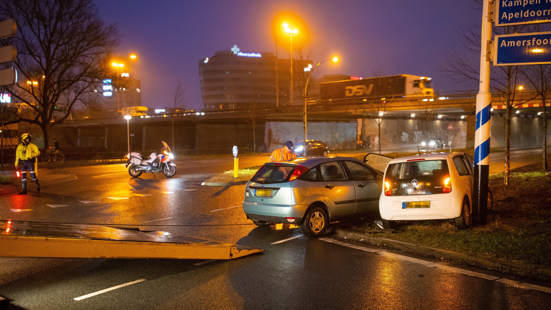 Weer ongeluk op Katerdijk in Zwolle, niemand gewond.