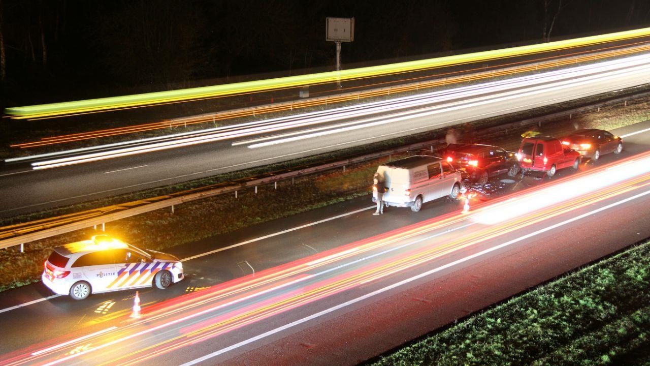 Ongeval op A1 van Hengelo richting Deventer: file opgelost.