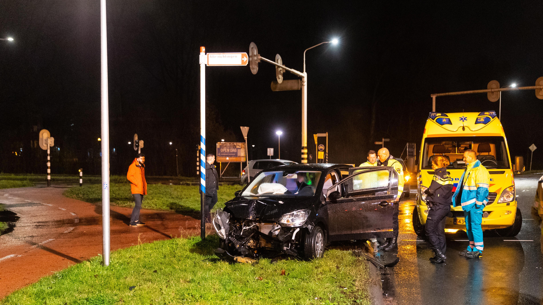 Automobilist spoorloos na eenzijdig ongeval in Zwolle.
